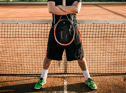 Tennisspelare på Clay Court