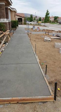 Concrete Path to Parking