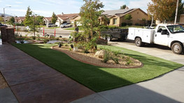 Finish touches on the artificial grass 2