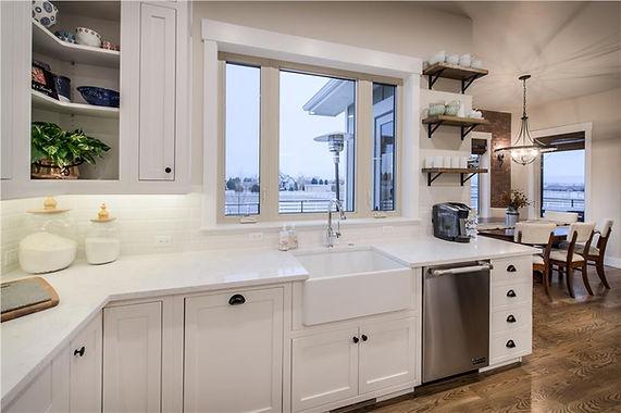 Modern Kitchen with a Barn Style Twist