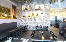 Restaurant Remodeling Design- Feature Stone Wall.