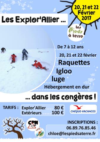 Mini-séjour Congères le 20, 21 et 22 février à Parrot