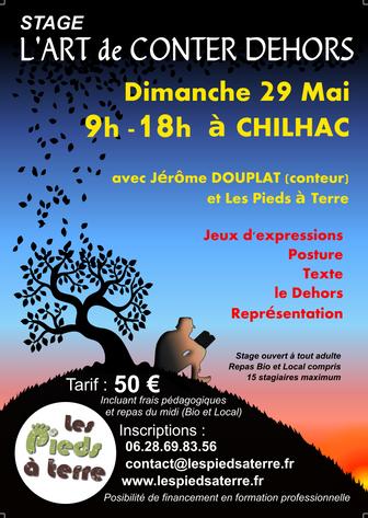 29 Mai : Stage L'ART DE CONTER DEHORS