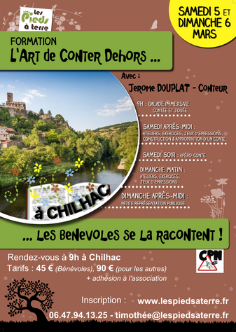 Formation l'Art de Conter Dehors - 5 & 6 Mars - Chilhac
