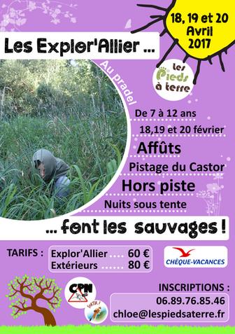 "Mini-Séjour ""Printemps Sauvage"" du 18-19-20 Avril"