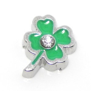 Clover - Green with Crystal