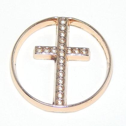 Crystal Cross - Rose Gold