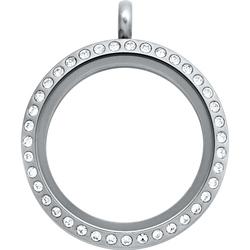 Locket - Silver Crystal