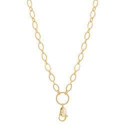 Chain - Flat Oval Link (Gold)