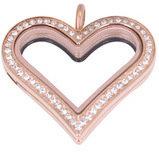 Heart Locket - Rose Gold Crystal