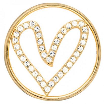 Crystal Heart - Gold