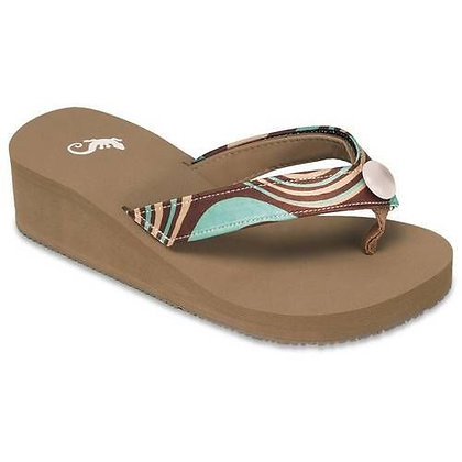 Sierra's Sandals - Wedge Brown