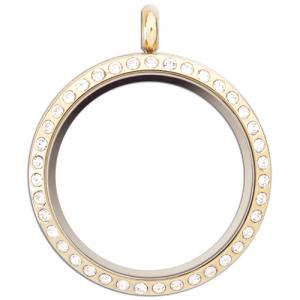 Locket - Gold Crystal