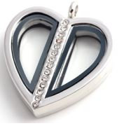 Locket - Silver Split Heart