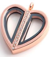 Locket - Rose Gold Split Heart