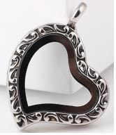 Locket - Silver Filigree Heart