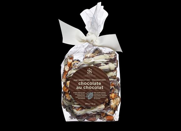 Popcorn - Dark & White Chocolate