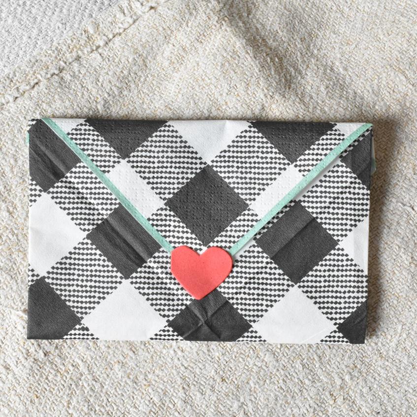 Love letter paper napkin