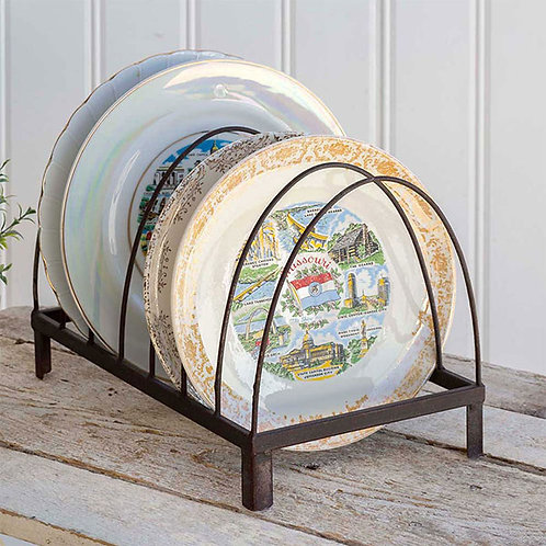 Wire Arches Tabletop Plate Caddy