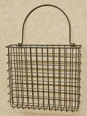 Rusty Wire Pocket Basket