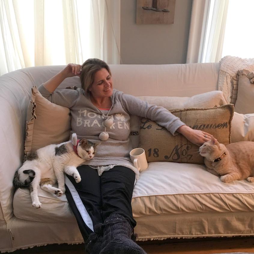 Michelle and kitties