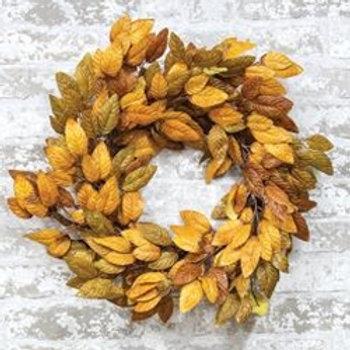 Golden Fall Wreath