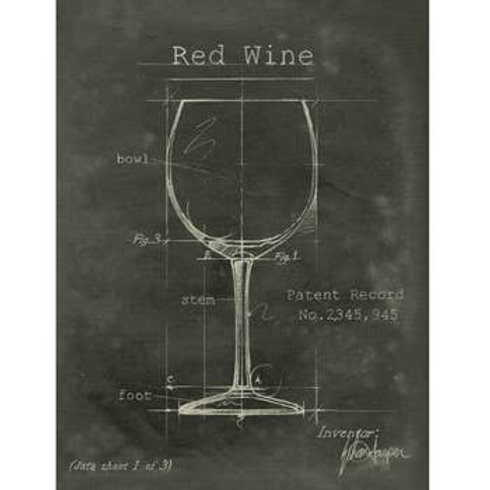 Barware Red Wine Fabric Gallery Wrapped Wall Art