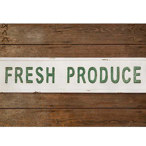 """Fresh Product"" Metal Sign"