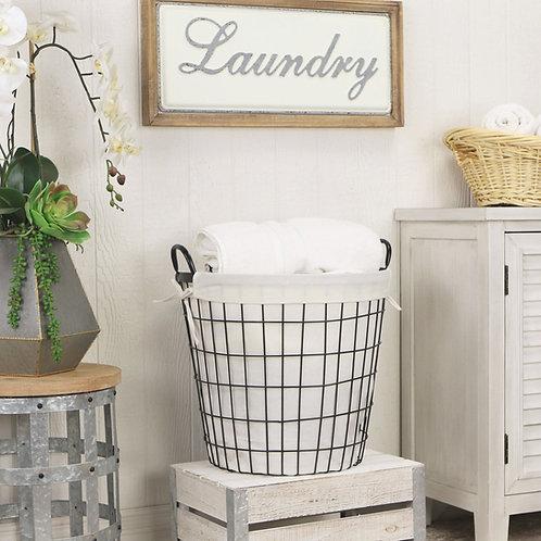 Stylish Wire Laundry Basket