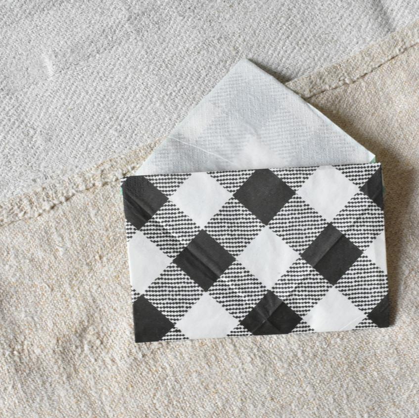 Love letter napkin fold