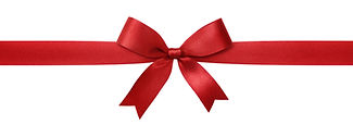 red ribbon with bow isolated on white ba