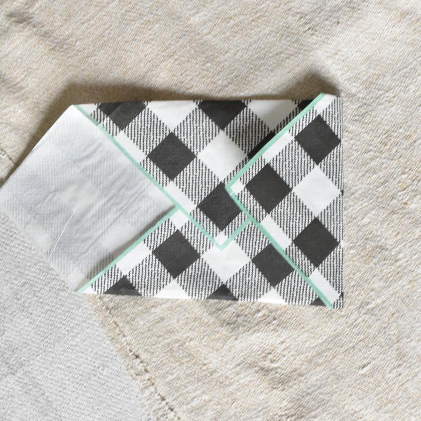 Love letter envelope napkin fold