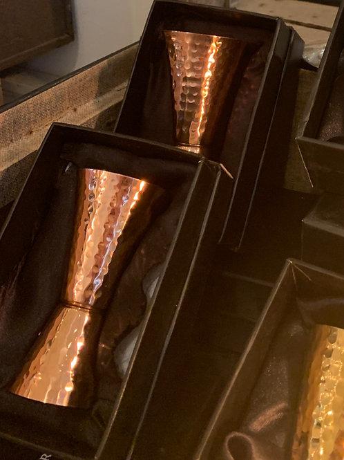 Premium Hammered Solid Copper Jigger
