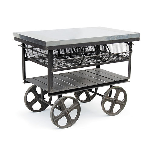 Industrial Island Cart