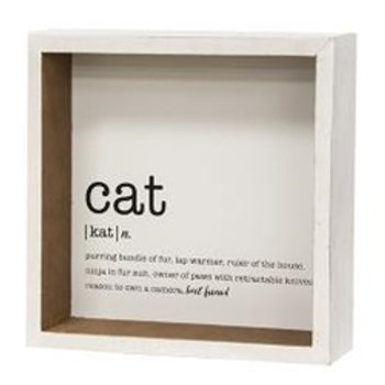 Cat Defined Sign