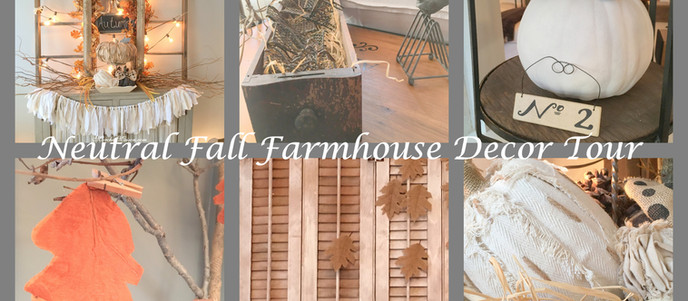 Neutral Fall Farmhouse Decor Tour