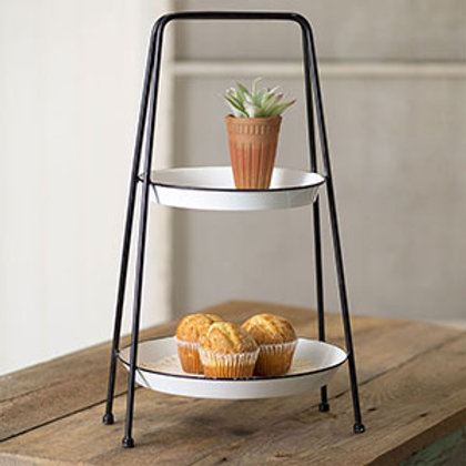 Farmhouse Chic Two Tiered Tray