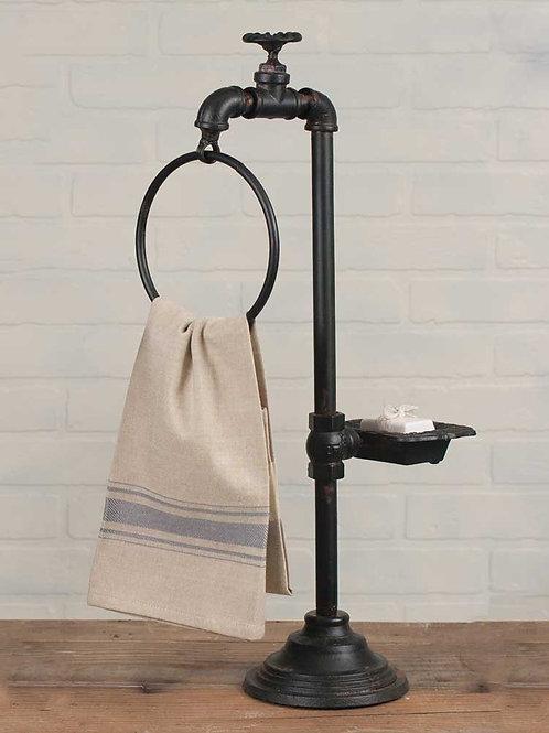 Farmhouse Spigot Soap and Towel Holder
