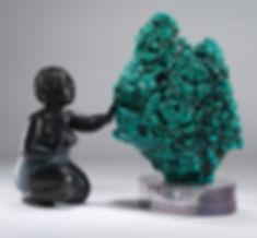 Turquoise et bronze art déco