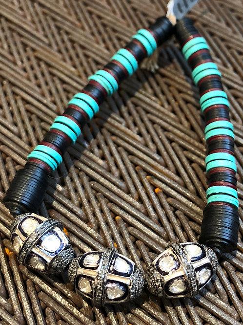 Diamond and Vulcanite Bracelet