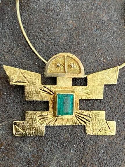 18kt gold pre Columbian Pendant Slide