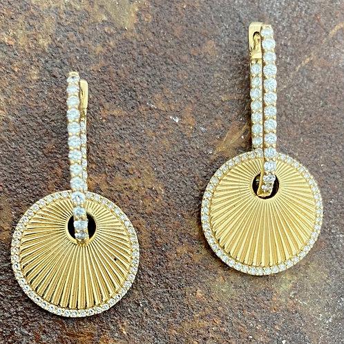 Ear Charm & Diamond 14kt gold earrings