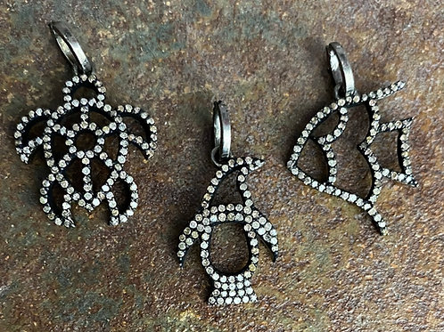 Animal Diamond & Silver Charm