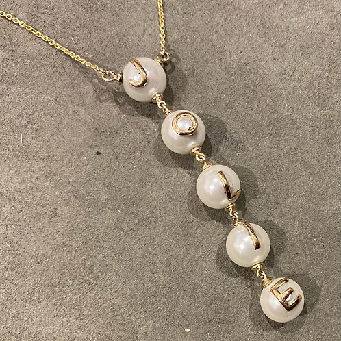 Pearl 14kt customizable necklace