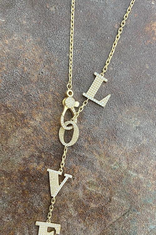 LOVE  14kt & Diamond necklace