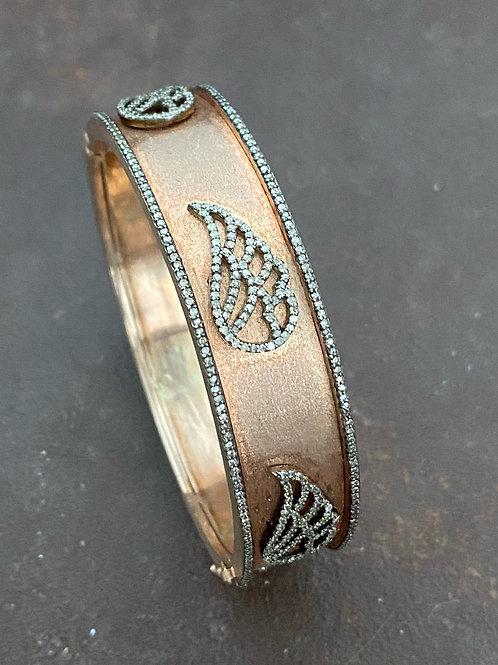 WINGS  diamonds & rose gold vermeil bangle