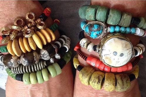 African Bracelet Arm Party