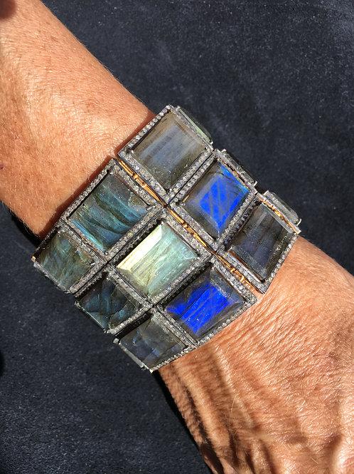 Diamond & Labradorite Bracelet