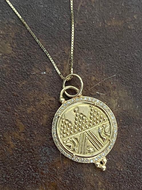 Diamond Gold 14kt Charm