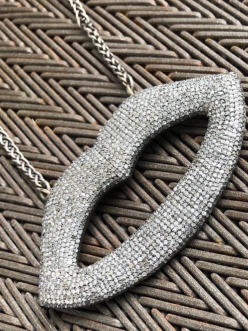SURFER diamond & silver necklace